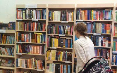 5 klasės mokinių pamoka Pilaitės bibliotekoje